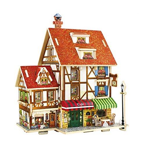 [Maison de thé japonaise] Bâtiment Modèle Kids 'Puzzle 3D Puzzle drôle Children