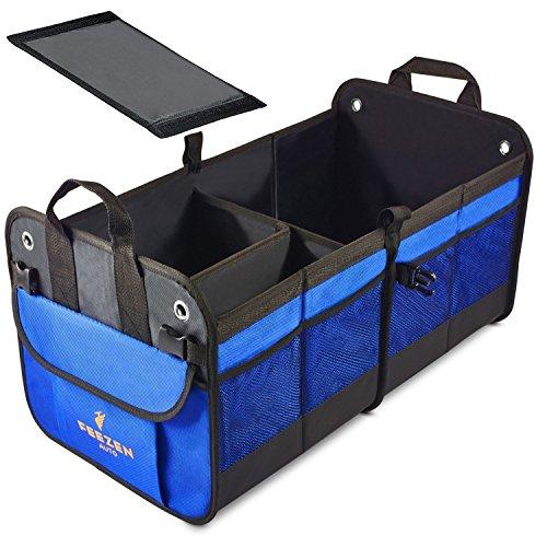 Feezen 車の収納ボックスとトランク収納ボックスは、折り畳み式で、耐久性、下部の防水と非滑りベルクロと...