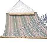 TOUCAN OUTDOOR Hammock Quilted FabricWith Pillow Double Size Spreader Bar Heavy Duty Stylish