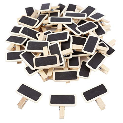 Pack 50pcs Mini Clip Pinza Madera Tablero Pizarra