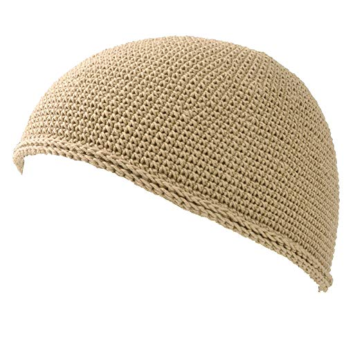 Casualbox Homme crâne chapeau Islam bonnet chapeau main fabriqué ajusté mode beige