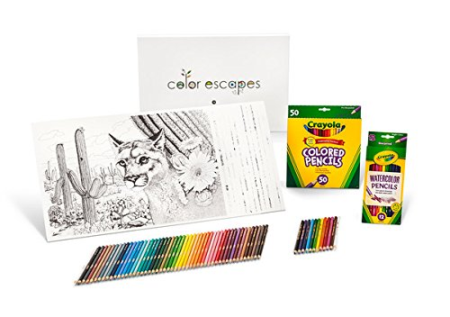 Crayola Color Escapes Coloring Pages & Pencil Kit, National Parks Edition