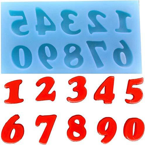 Siliconen mal voor het gebruik van blokletters van 0 tot 10 - suikerpasta - fondants - cakes - pannenkoeken - muffins - decoraties