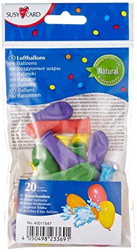 Susy Card 40011547 - Wasserbomben, verschiedene Farben, 20er Packung