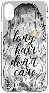 Body Glove Protective Slim Case for iPhone XR - Gray - Long Hair Don't Care