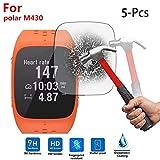 Colorful Für Polar M430 Schutzfolie, HD Superdünn Gehärtetes Glas Schutzfilm 9H Festigkeit Bildschirmschutzfolie für Polar M430 Smartwatch (5 Stück)