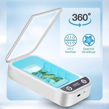 Lacmisc UV Sterilisator Handy UV-Licht mit kabelloser Ladefunktion Haushaltssterilisator Box UV Handy Sterilisator Aromatherapie Funktionsdesinfektionsger/ät f/ür iPhone Android Uhren