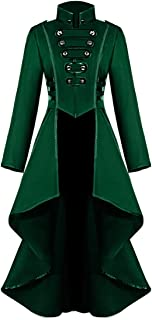 Women's Tuxedo Gothic Tailcoat Trench Jacket Steampunk Long Victorian Top Costume