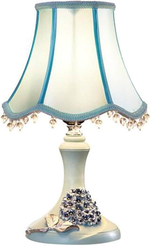 GZEALL Europäische Tischlampe Schlafzimmer Nachttischlampe Einfache Mode Hochzeit Tischlampe Pastoralen Kreative Lampe Druckschalter (Farbe   A) B07H957DHR   Angenehmes Gefühl