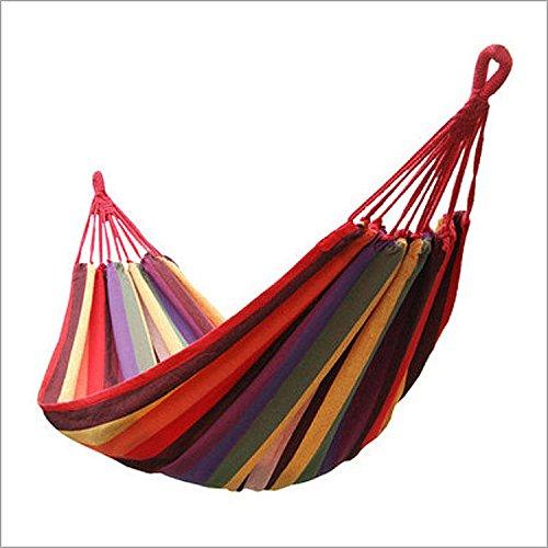 canvas hammock extérieur Toile Hamac, intérieur, Leisure Swing, Corde, Feed, Sac en Tissu Rouge à Rayures