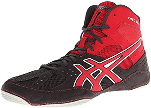 Asics - - Herren Cael V6.0 Schuhe, EUR    45, Charcoall Fiery rot Silber  zeitloser Klassiker