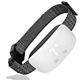 Dog Bark Collar, Waterproof Rechargeable Anti Barking Control Training Collar with Beep Vibration and No Harm Shock (7 Adjustable Sensitivity Control) for Small Medium Large Dog (White)