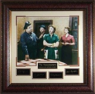 Honeymooners 31x32 Cast Photo Engraved Signature Series Custom Framing - Jackie Gleason, Art Carney, Audrey Meadows