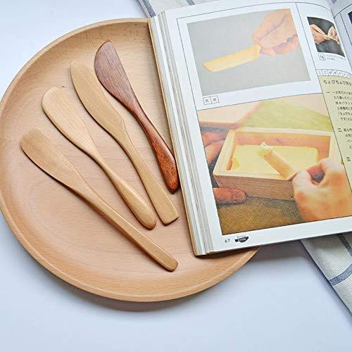 ETHAN 4-delig/set natuurlijke houtsnijder botermes masker jam kaas duif bakvormen servies