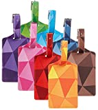 8 Pack Luggage Tags Triangle Colorful Suitcase Labels Travel Tag (Mixed)