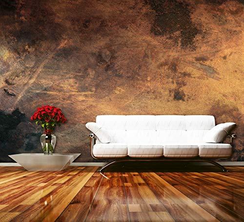 Vlies Fototapete VERKRATZTES KUPFER 375 x 250 cm | Vliestapete - Wandtapete für Wohnzimmer Schlafzimmer Büro Flur | PREMIUM QUALITÄT - MADE IN EU - Inklusive Tapetenkleber