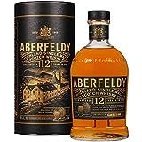 Aberfeldy Scotch Whisky Single Malt 12 Anni, The Golden Dram, Gusto Morbido, Intenso e Persistente, con Note di Miele, Vaniglia e Spezie Dolci, 70cl