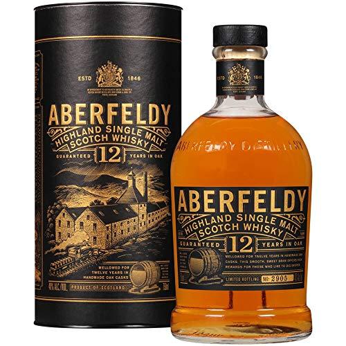 Aberfeldy Scotch Whisky Single Malt 12 Anni, con Note di Miele, Vaniglia e Spezie Dolci - 700 ml
