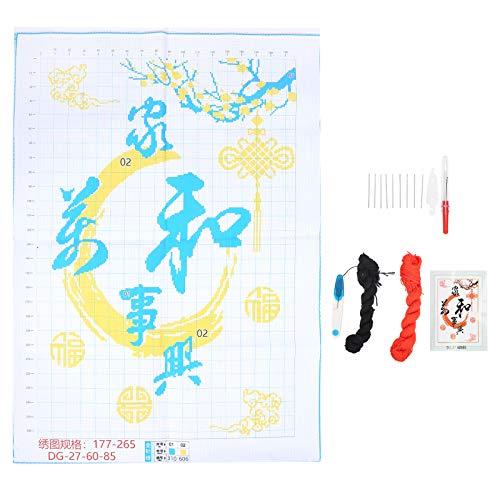 N\C Kit de costura de cruces Harmonys trae riqueza patrón DIY 3D bordado simple costura decoración del hogar