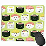 Yatta, Sushi! Mouse Pad Non-Slip Custom for Computers Laptop Home and Office 9.8 X 11.8 inch