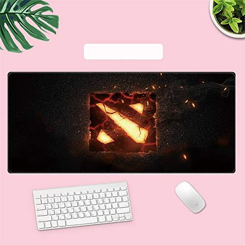 Gaming Mauspad Brennender Kamin Tischunterlage Large Size verbessert Präzision und Geschwindigkeit Wasserdicht extended Office mit Anti-Rutschem Gummi-Basis für Gaming, Computer C1512 300×600×3mm