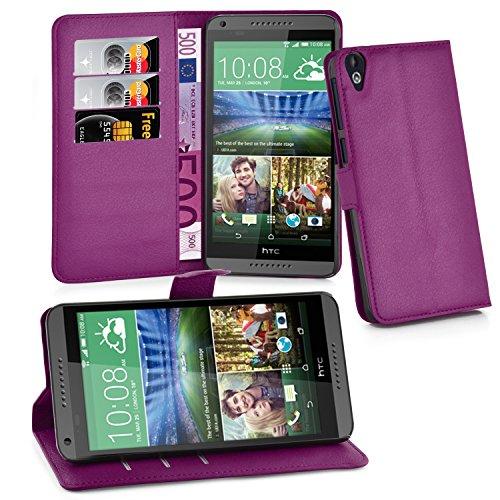 Cadorabo Hülle für HTC Desire 820 in Mangan VIOLETT - Handyhülle mit Magnetverschluss, Standfunktion & Kartenfach - Hülle Cover Schutzhülle Etui Tasche Book Klapp Style