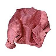 Afunbaby Baby Girl Boy Knit Sweater Blouse Pullover Sweatshirt Warm Crewneck Long Sleeve Tops for Infant Toddler
