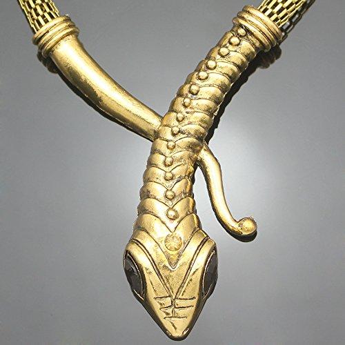 Naswi Vintage Oro Egipcio Cleopatra Serpiente Serpiente Cadena De Malla Cristal Gema...