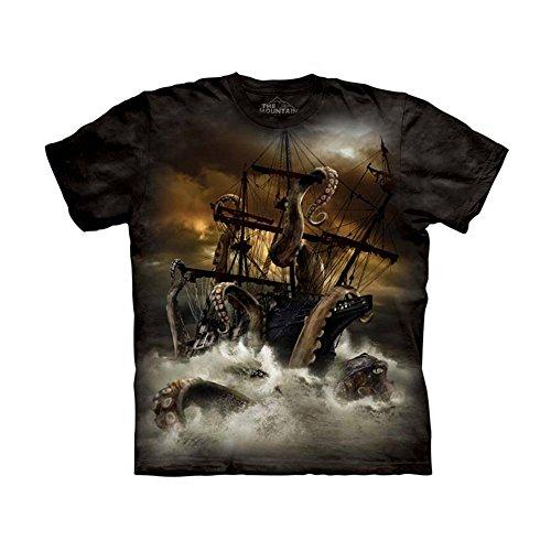 The Mountain Kids Kraken T-Shirt, Medium, Black