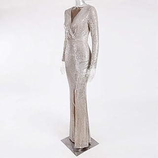 فستان لل نساء مقاس M , اسود - فساتين سهرات
