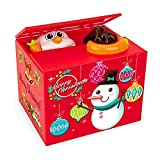 ALIMITOPIA Christmas Saving Money Box,Musical Mischief Santa Stealing Coin Piggy Bank Coin Storage Pot for Xmas (Cartoon Snowman)