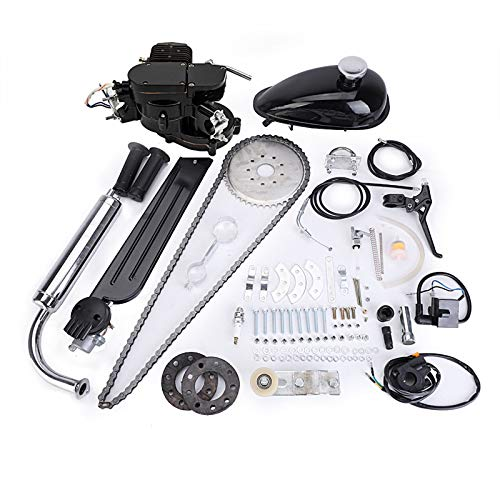 80cc Bicycle Engine Kit 2-Stroke Gas Motorized Bike Motor Kit 26' 28' Bicycle Motor Engine Kit Upgrade Black