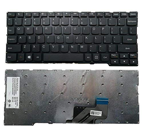 ZGQA-GQA Teclado de computadora portátil Nuevo Teclado de computadora portátil en inglés Negro de EE. UU. (Sin Marco) Reemplazo para Lenovo Yoga 300-11IBR 300-11IBY MP-12U13US-6866, PK1319O1A00