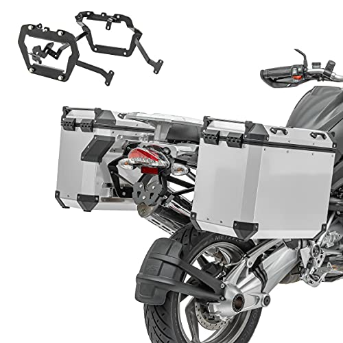Set Maletas Aluminio ADX90 para BMW R 1200 GS Adventure 06-13 + portamaletas