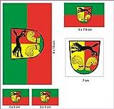 U24 Aufkleberbogen Peine Aufkleber Set Flagge Fahne