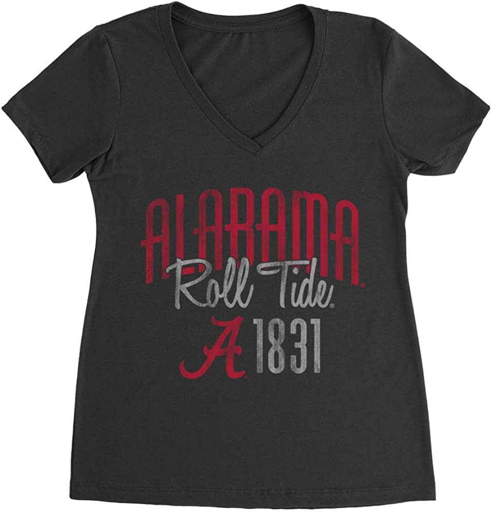 01AMBH13 Premium Womens Ideal V Neck Official NCAA Alabama Crimson Tide