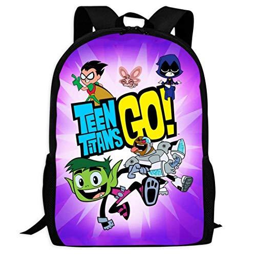 BYD-47 Teen Titans Go 3 Mochila con Estampado 3D para niños Negro Neg