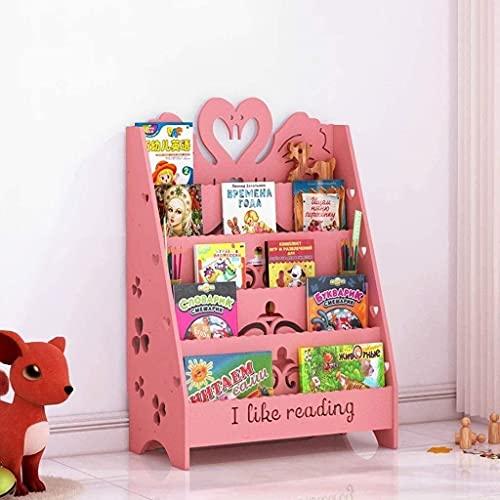 Titular de la Pluma Escritorio Escritorio Almacenamiento Pink Bookshelf Living Room Landing Book Stand School School Lectura Librería Metal Pen Holder