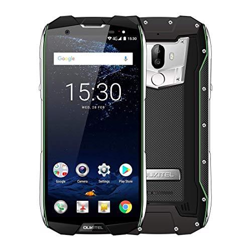 Telefono robusto OUKITEL, WP5000 4G Dual Sim Smartphone sbloccato gratuito con 6 GB Ram 64 GB Rom, schermo anti-graffio da 5,7 pollici, impermeabile Antiurto Antipolvere(Verde)