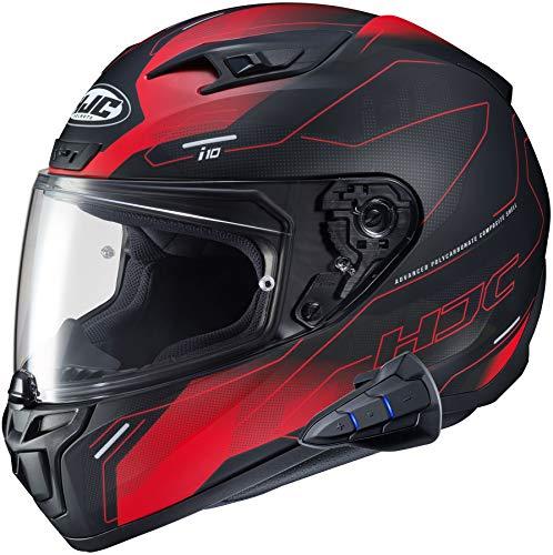 HJC i10 Full Face Helmet Snell 2020 with Sena Smart HJC Bluetooth Headset Taze MC1SF Large