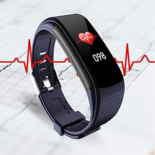 WalkerFit Fitness Tracker, Activity Tracker with Heart Rate Monitor, Waterproof Standard Smart Watch with Pedometer, Deep Blue 5