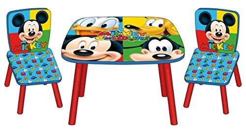 Arditex WD8328 - Set de una mesa y dos sillas, diseño Mickey Mouse
