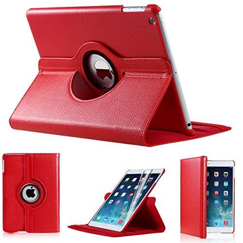 iPro Accessories iPad Air 2 Case [Corner Protection] - Slim Fit Premium Pu Leather Folio Case for iPad Air 2 (RED)