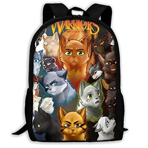 Dominic Art Warriors Cats Cool Youth Backpack Shoulder Bag...
