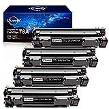 Uniwork Compatible Toner Cartridge Replacement for HP 78A CE278A use for Laserjet Pro P1606dn M1536dnf P1566 P1560 P1606 M1536 Printer, 4 Black