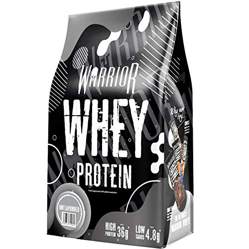 Warrior Supplements Whey Protein Powder, Muscle Building Shake, 36g of Protein Per Serving, Golden Brown, Unflavoured, 1000 g