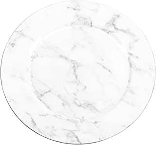 faux marble charger plates
