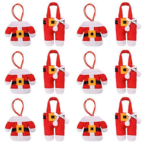 COSYLAND 12 Piezas Bolsillos para Cubiertos Decoración de N