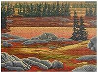 新しいカナダの風景画クマパズル1000ピース木製大人のジグソーパズルカラー抽象絵画パズル子供のための教育玩具ギフト