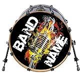 22 inch Custom Bass Drum Head DECAL